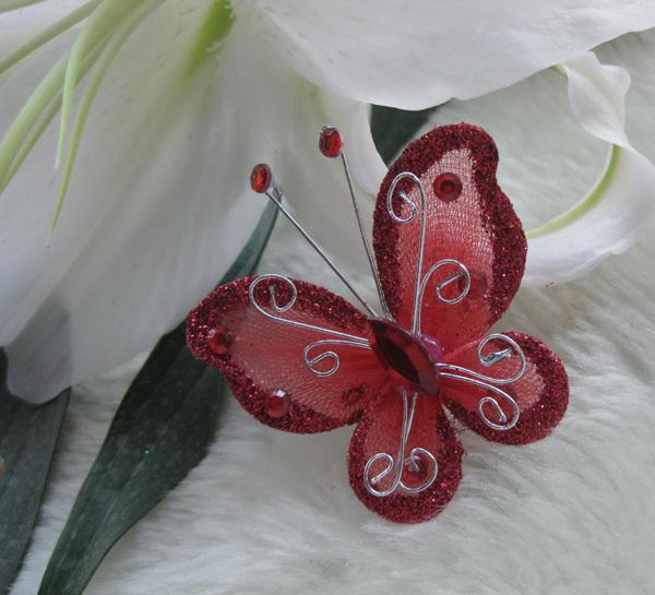 Papillon Bordeaux D Coration Mariage Lot De 10 Un Jour