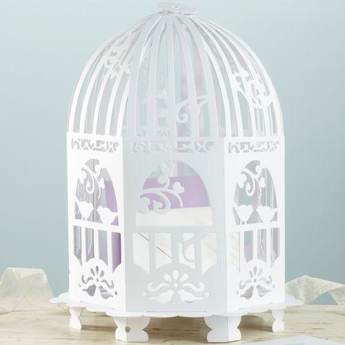 Urne cage oiseaux d coration mariage vintage un jour - Decorer une cage a oiseaux ...
