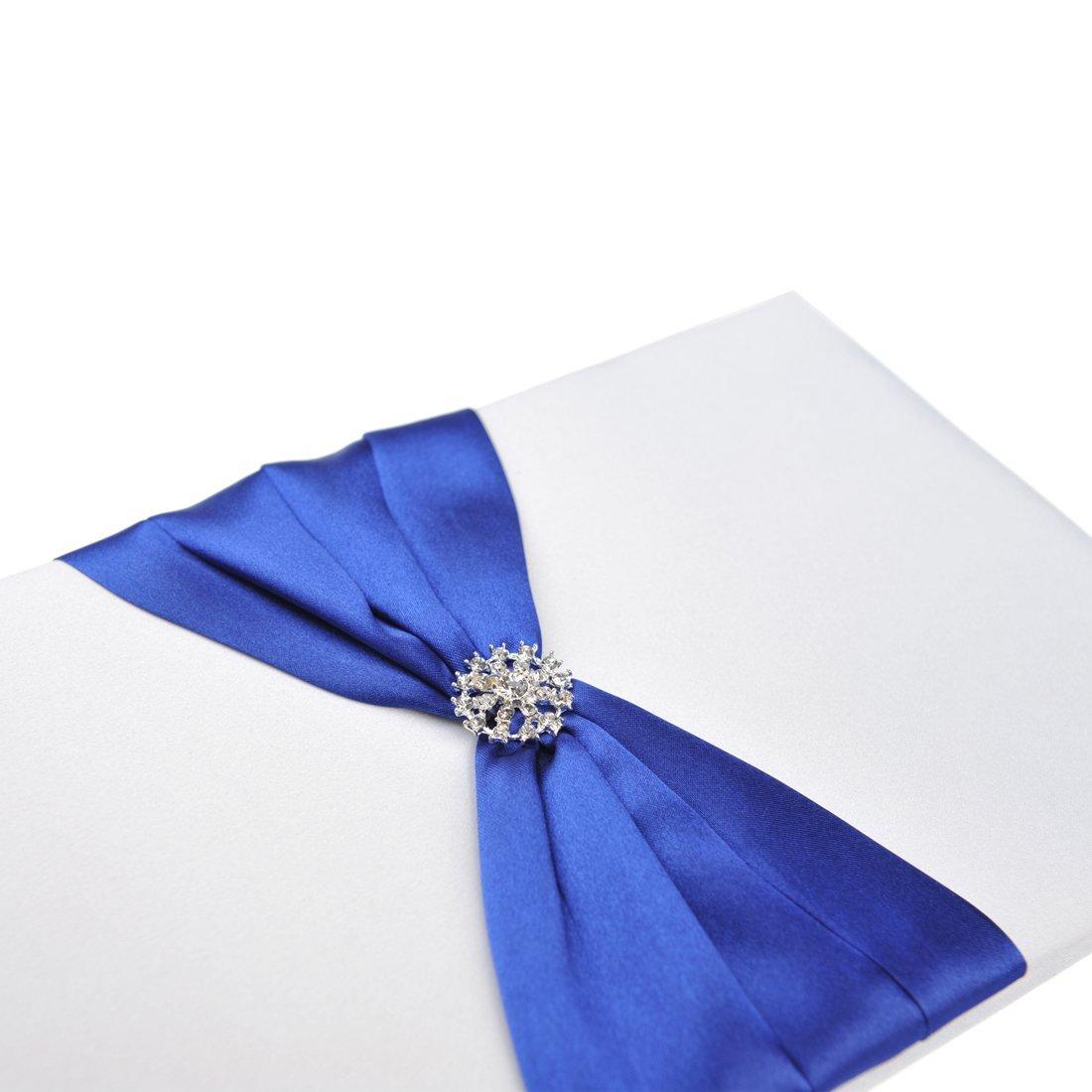 livre d 39 or stylo mariage blanc bleu royal un jour sp cial. Black Bedroom Furniture Sets. Home Design Ideas