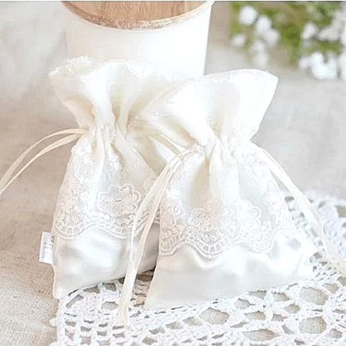 Sachets dragées dentelle Décoration mariage (lot de 10) - Boite à ...