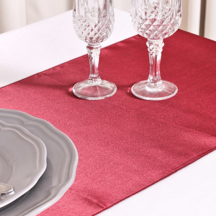 de Table Mariage Satin Bordeaux (Lot de 5) - Décoration de Table ...