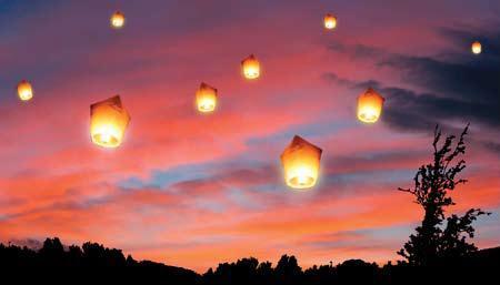 accessoires de mariage decoration lanterne chinoise volante blanche - Lanterne Volante Mariage