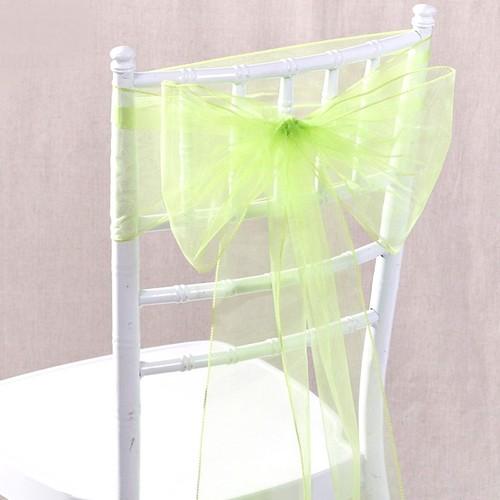 noeud de chaise mariage organza vert pomme x 10 un jour sp 233 cial