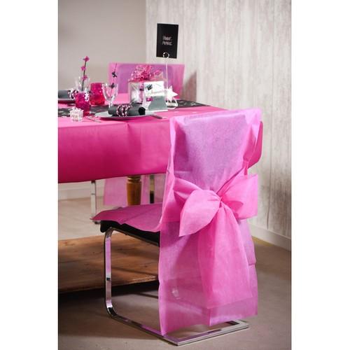 housse de chaise mariage ivoire avec noeud housse de chaise jetable. Black Bedroom Furniture Sets. Home Design Ideas