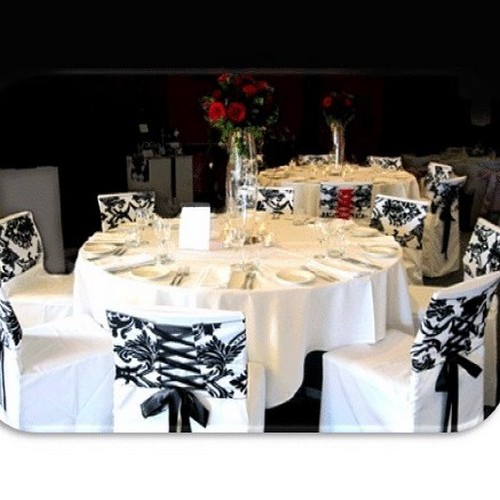 Noeud de chaise mariage corset baroque noir et blanc x 10 - Chaises noir et blanc ...
