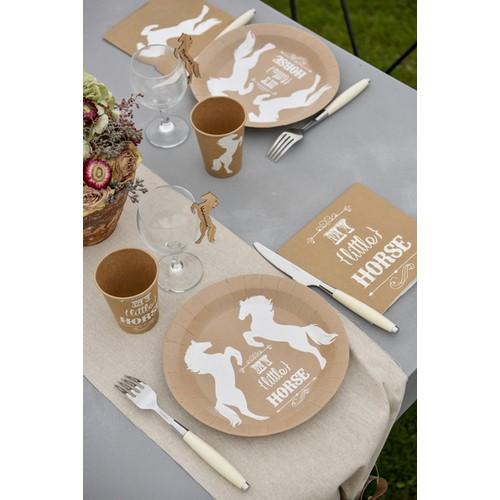 serviettes en papier mariage th me quitation pas cher serviettes jetables cheval. Black Bedroom Furniture Sets. Home Design Ideas
