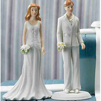 Figurine mariage gay par un jour sp cial accessoires - Lesbienne femme de chambre ...