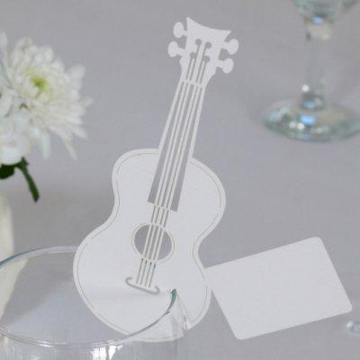 Marque places guitare d coration table de mariage lot de 10 - Marque de decoration ...