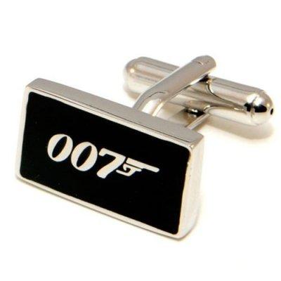 Les boutons de manchette James Bond pour les mordus de film 007 à mettre sur une chemise avec poignets mousquetaires. En Acier inoxydable.ces petites cartes