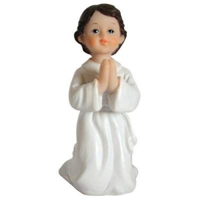 Figurine sujet de communion gar�on agenouill�