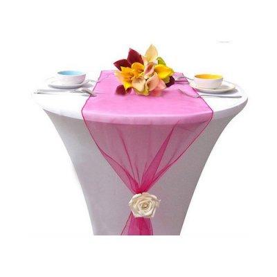 D co de table bapt me par un jour sp cial accessoires d corations de mariage - Chemin de table fushia ...