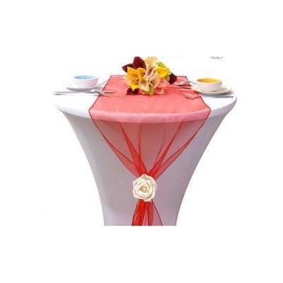 Chemin de table mariage organza rouge lot de 5 par un jour sp cial accessoires d corations - Chemin de table rouge mariage ...