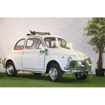 kit d coration voiture mariage blanc par un jour sp cial accessoires d corations de mariage. Black Bedroom Furniture Sets. Home Design Ideas
