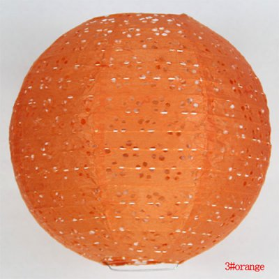 Lanterne orange en dentelle de papier