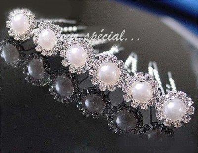 Epingle à cheveux avec perle pour un mariage ou une cérémonie, pic pour chigon de mariée, un accessoire cheveux mariage très romantique.