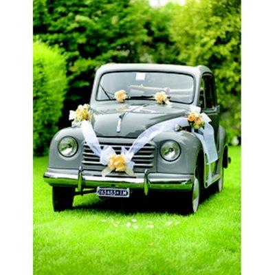 kit d coration voiture mariage blanc un jour sp cial. Black Bedroom Furniture Sets. Home Design Ideas