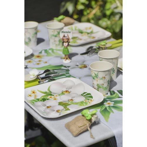 assiettes orchid e en carton pas cher vaisselle jetable pour d co de mariage th me orchid e. Black Bedroom Furniture Sets. Home Design Ideas