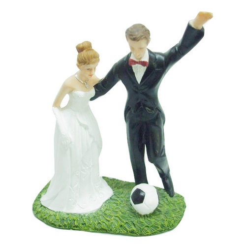 Decoration Mariage  - Figurine mariés football : illustration