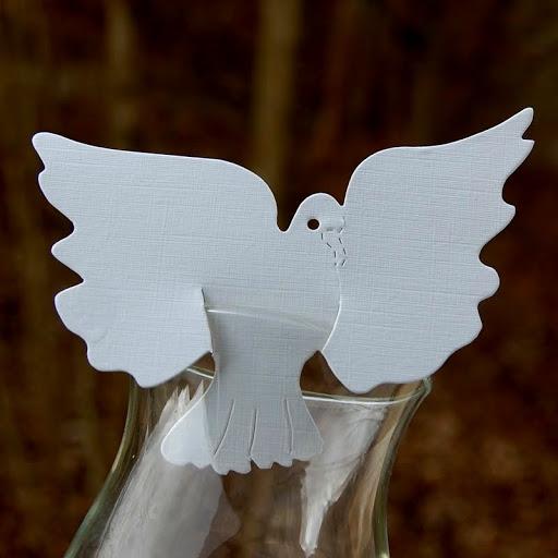 Marque place mariage colombe cartonn mariage th me for Porte nom a imprimer gratuitement