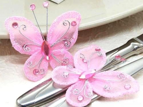 Decoration Papillon Mariage : Décoration mariage papillon rose pas cher déco table