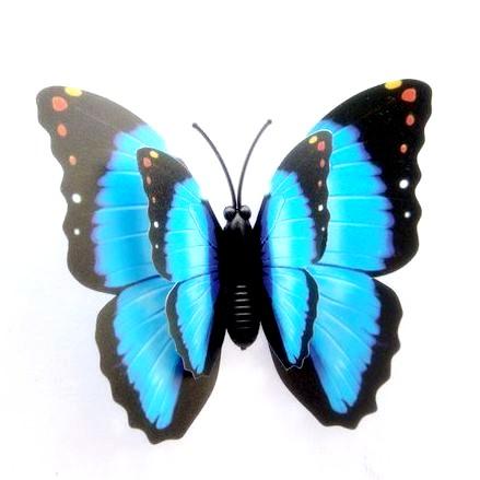 papillon bleu d coration mariage lot de 12 un jour sp cial. Black Bedroom Furniture Sets. Home Design Ideas