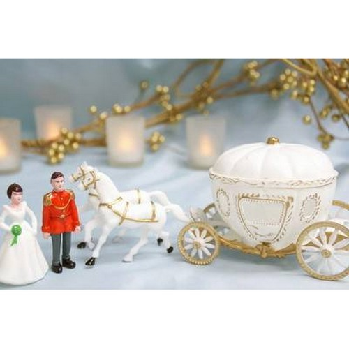 Figurine de Mariage carrosse de Cendrillon sujet gateau ... - Photo 2