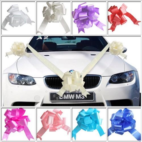 Decoration voiture mariage kits ruban couleur aux choix