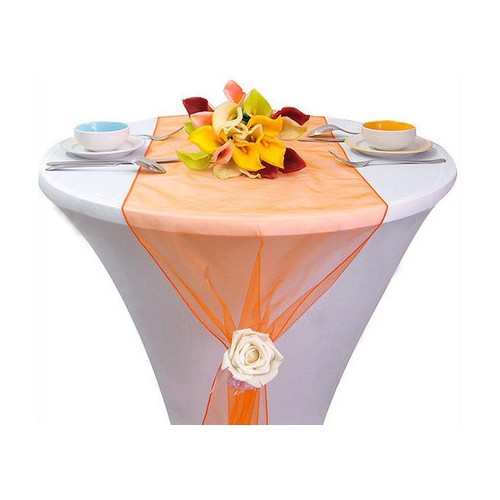 Chemin de Table Mariage Organza Orange (Lot de 5) par Un Jour Spécial ... - Photo 2