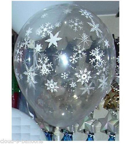 Ballon flocon de neige d coration no l mariage lot de 5 - Flocon de neige decoration ...