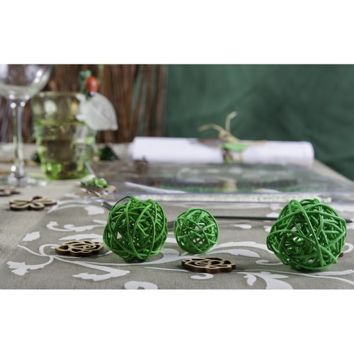 Boule en rotin vert x 9 diamètre assorti pour ... - Photo 2