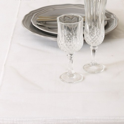 Décoration de Table  - Chemin de Table Mariage Organza Blanc (Lot de 5) : illustration