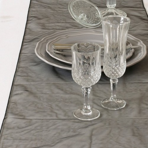 chemin de table organza chemin de table mariage. Black Bedroom Furniture Sets. Home Design Ideas