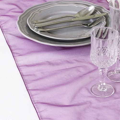 Decoration Mariage  - Chemin de Table Organza Violet (Lot de 5) : illustration