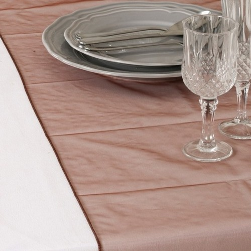 Chemin de Table Mariage Organza Chocolat (Lot de 5)
