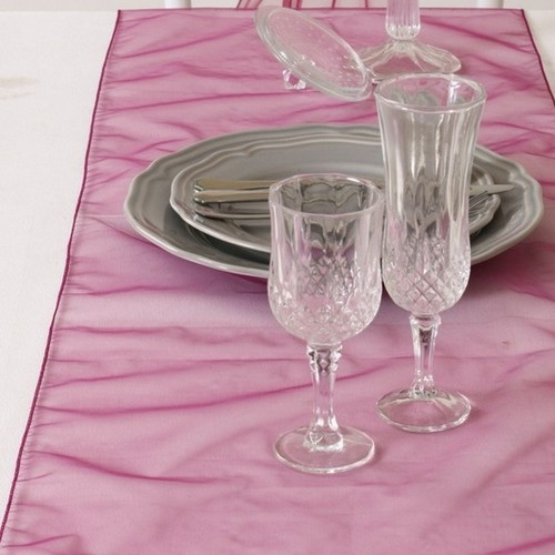 Décoration de Table Mariage  - Chemin de Table Mariage Organza Raisin (Lot de 5) : illustration