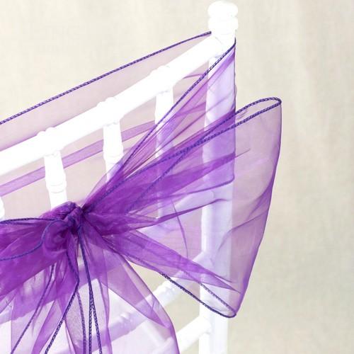 noeud de chaise mariage organza violet x 10 un jour sp 233 cial
