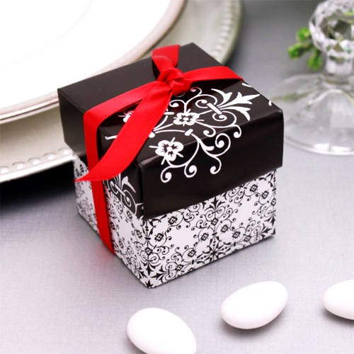 boites drag es mariage baroque noir et blanc. Black Bedroom Furniture Sets. Home Design Ideas