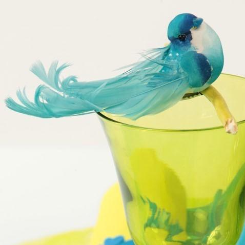 D coration mariage oiseaux artificiel turquoise un jour for Oiseaux artificiels de decoration