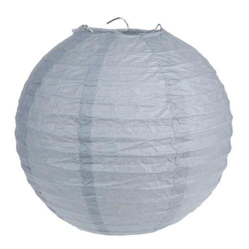 lampion boule chinoise papier gris pas cher d co mariage un jour sp cial. Black Bedroom Furniture Sets. Home Design Ideas