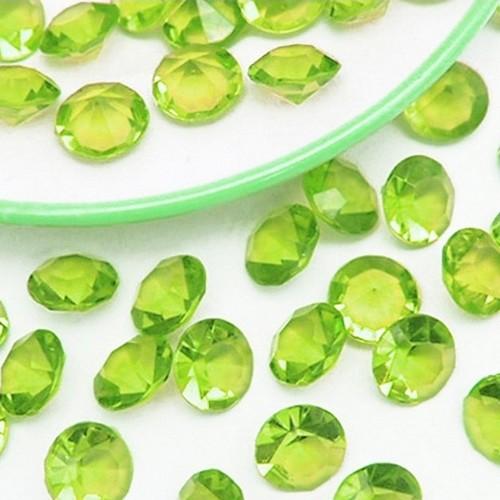 Déco table mariage diamant vert anis | Un Jour Spécial