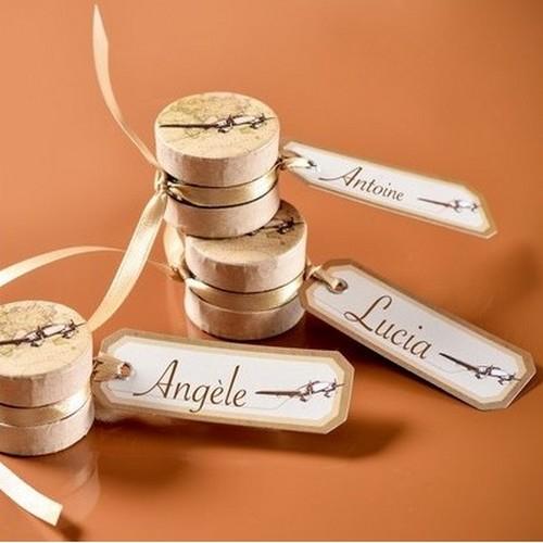 Etiquette marque place avion en papier th me mariage for 1 porte etiquette de voyage