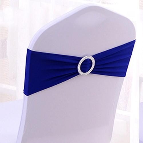 Décoration de Salle de Mariage , Noeud de chaise mariage en lycra bleu roi  illustration