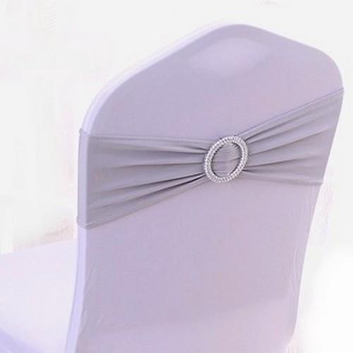 Noeud de chaise mariage lycra gris pas cher d co - Noeuds de chaise mariage ...
