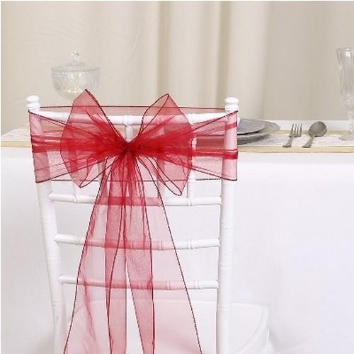 1 noeud de chaise organza mariage pas cher noeud pour housse de chaise. Black Bedroom Furniture Sets. Home Design Ideas