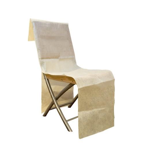 housses de chaise jetable intiss ivoire x 6 un jour sp cial. Black Bedroom Furniture Sets. Home Design Ideas