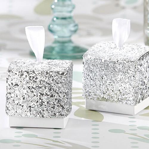 boite dragees glitter paillettes argent d co mariage un jour sp cial. Black Bedroom Furniture Sets. Home Design Ideas