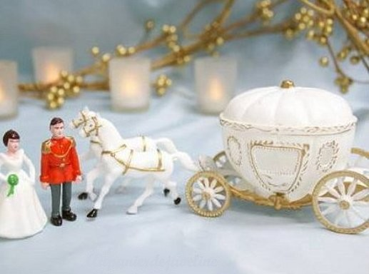 Figurine de Mariage carrosse de Cendrillon sujet gateau ... - Photo 3