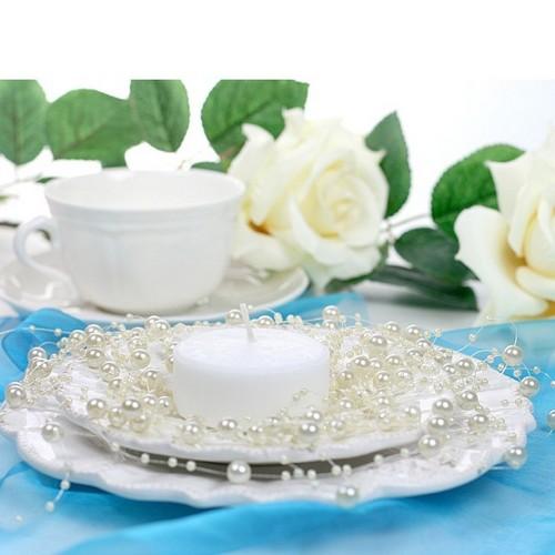 guirlande de perles ivoire d co table mariage un jour sp cial. Black Bedroom Furniture Sets. Home Design Ideas
