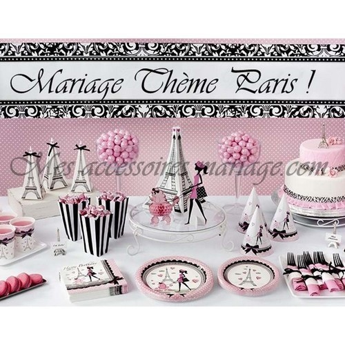 Dessous de verre mariage tour eiffel th me paris un jour sp cial - Deco mariage theme paris ...