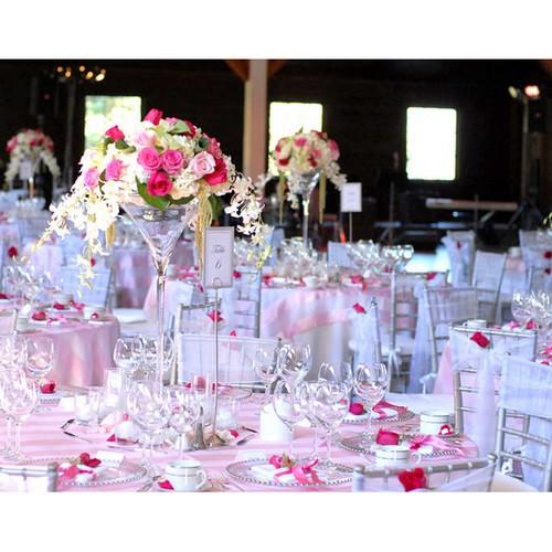 Vase martini 70 cm décoration centre de table mariage par Un Jour Spécial .